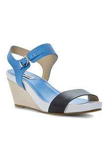 DUNE Getup leather wedge sandals