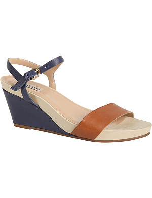 DUNE Gadget leather wedge sandals