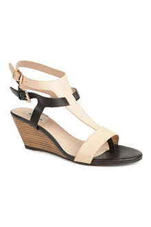 DUNE Gwinny leather wedge sandals