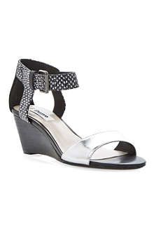 DUNE Ginni leather wedge sandals