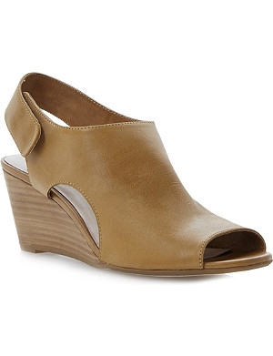 DUNE Giana leather wedge sandals