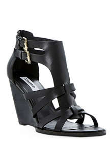 DUNE Gerad leather wedge sandals