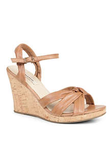 DUNE Garrison leather wedge sandals