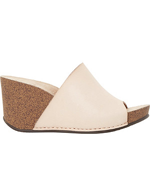 DUNE Kimba mule wedge sandals