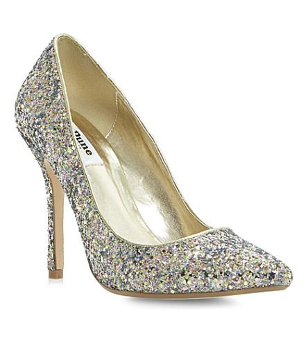 DUNE Burst metallic court shoes (Multi-glitter