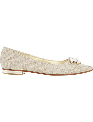 DUNE Beaux jewelled pointed-toe flats