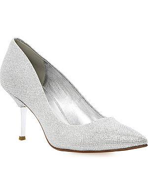 DUNE Brill silver court shoe