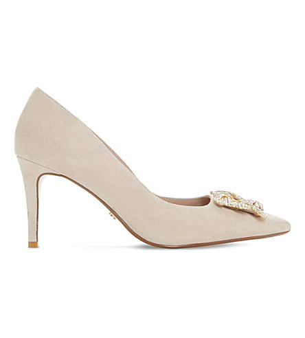 DUNE Betti suede courts (Nude-suede