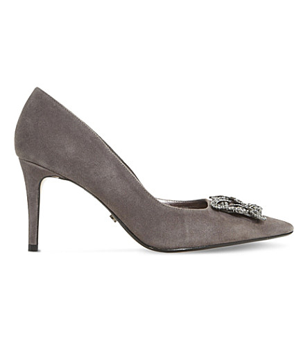 DUNE Betti suede courts (Grey-suede