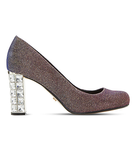 DUNE Bindy metallic court shoes (Multi-metallic+fabric