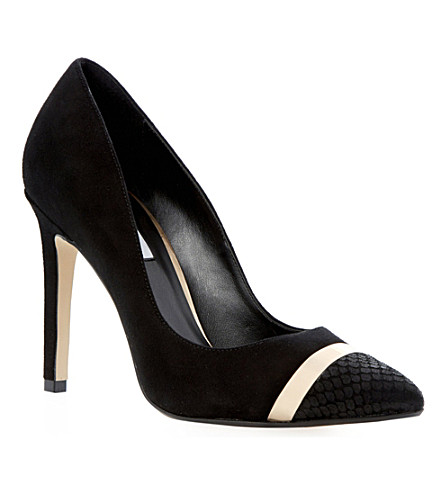 DUNE Bellini suede court shoes (Black-suede