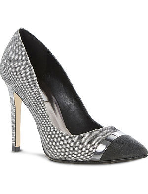 DUNE Bellini metal trim court shoes