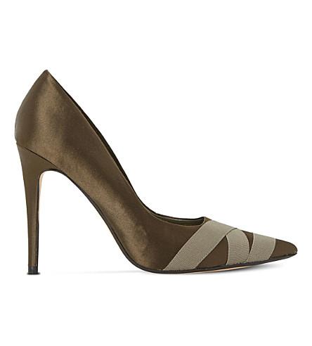 DUNE Archivve satin court shoes