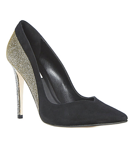 DUNE Brittany contrast material court (Black-suede