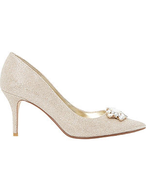 DUNE Belles jewelled pointed-toe court shoes