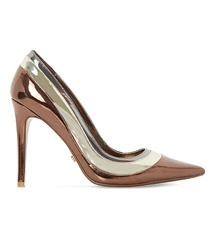 DUNE Triple-layer metallic court shoes (Multi-metallic