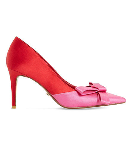 DUNE Bowiee satin triple bow courts (Red-satin