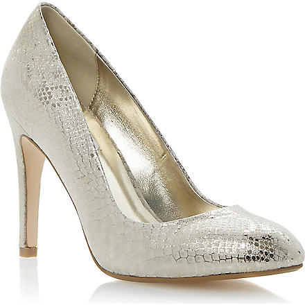 DUNE Burlesque court shoes (Champagne-leather