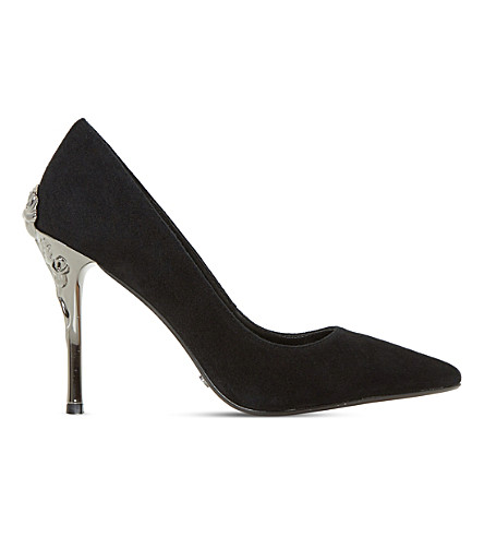 DUNE Buds suede court shoes (Black-suede
