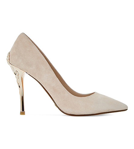 DUNE Buds suede courts (Blush-suede