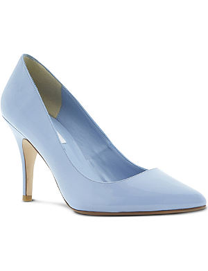 DUNE Appoint patent pointed-toe court shoes