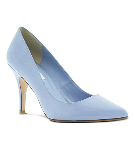 DUNE Appoint patent pointed-toe court shoes (Blue patent
