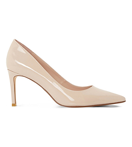 DUNE Abbigail patent-leather courts (Nude-patent