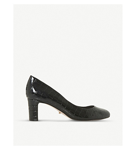 DUNE Addena patent-leather courts (Black-synthetic+croc