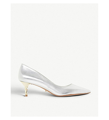 DUNE Aspire metallic leather courts (Silver-leather