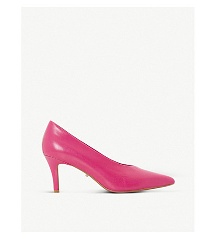DUNE Ari high-vamp leather courts (Pink-leather
