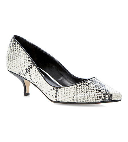 DUNE Alfa snake-print court shoes (Black white-reptile