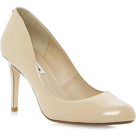 DUNE Allie back-stud patent-leather courts (Nude-patent