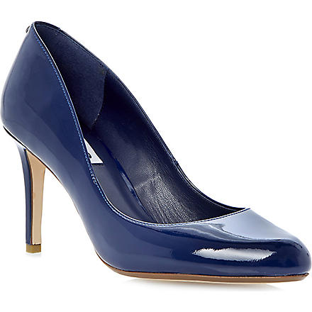 DUNE Allie back-stud patent-leather courts (Navy-patent