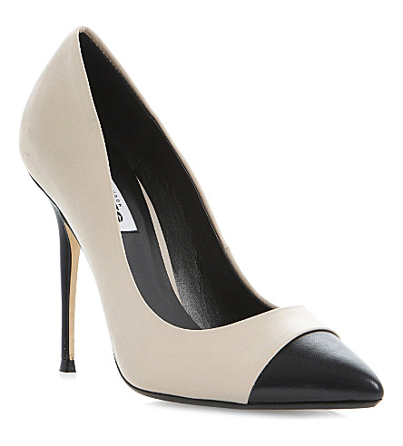 DUNE Alesha two-toned leather courts (Nude-leather