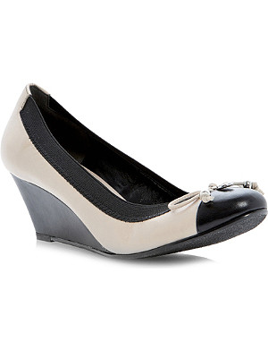DUNE Atara leather wedge courts