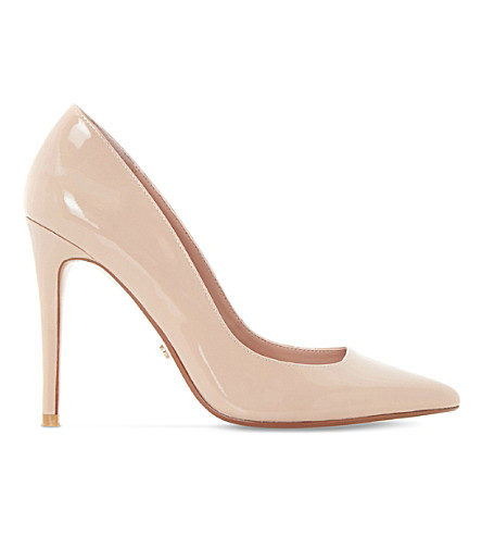 DUNE Aiyana stiletto patent court shoes (Nude-patent