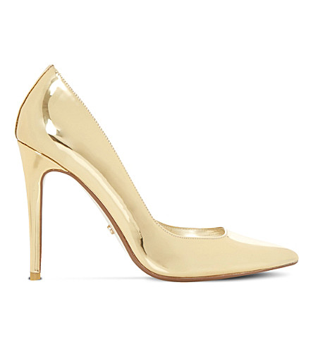 DUNE Aiyana metallic court shoes (Gold-metalic