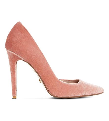 DUNE Aiyana velvet court shoes (Blush-velvet
