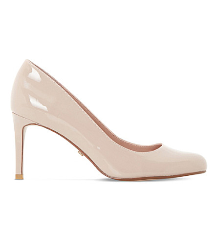 DUNE Aggilera patent leather court shoes