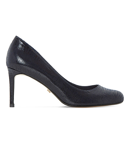 DUNE Aggilera snake-embossed courts (Navy-reptile