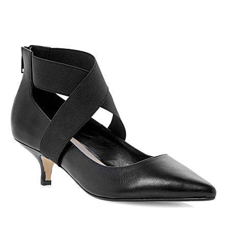 DUNE Asha court shoe (Black-leather