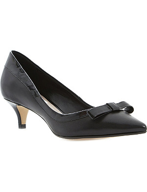 DUNE Allma bow-trim pointed-toe courts