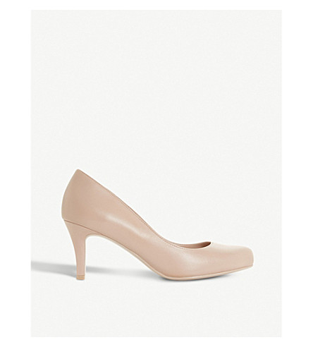 DUNE Amelia patent court shoes (Nude
