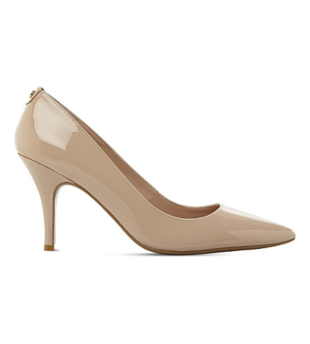 DUNE Aeryn slip-on patent-leather court shoes (Nude-patent