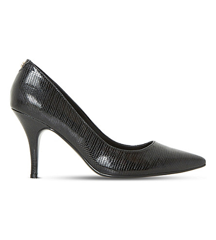 DUNE Aeryn slip-on patent-leather court shoes (Black-snake