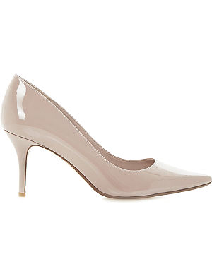 DUNE Alina pointed-toe mid-heel courts