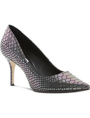 DUNE Alina reptile print mid-heel courts