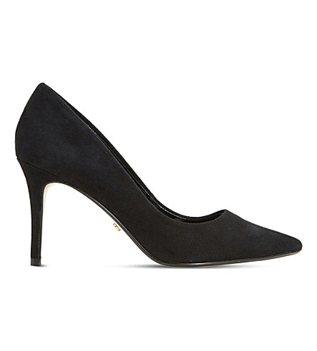 DUNE Aurrora pony-hair courts (Black-suede