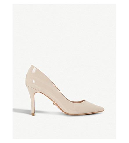 DUNE Aurrora slip-on patent court shoes (Nude-patent+synthetic