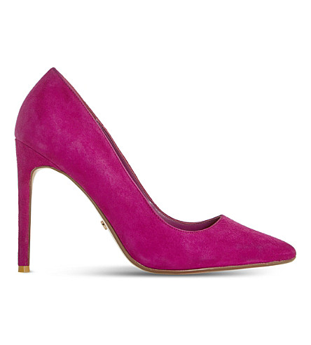DUNE Amalfie suede courts (Pink-suede